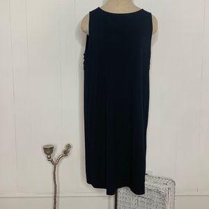 J Jill Wearever Collection Midi Dress Pleated Back